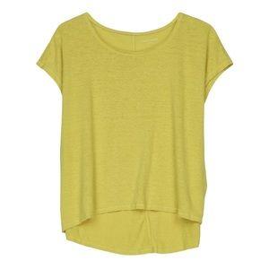 EILEEN FISHER Bright Yellow Linen Jersey Tunic Tee